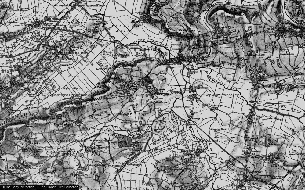 Old Map of Whitecross, 1898 in 1898