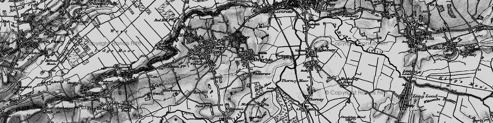 Old map of Whitecross in 1898