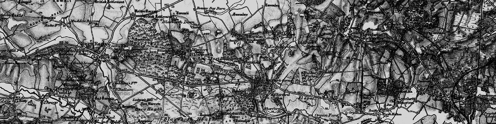 Old map of Whitefield in 1895