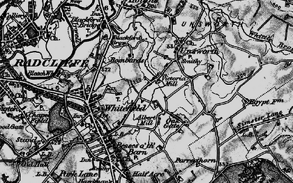 Old map of Whitefield in 1896