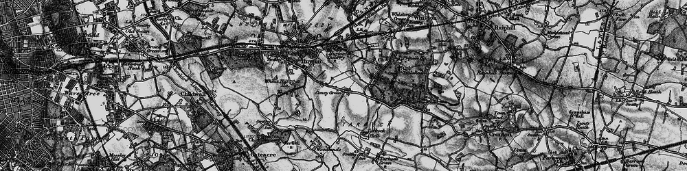 Old map of Whitefield Lane End in 1896