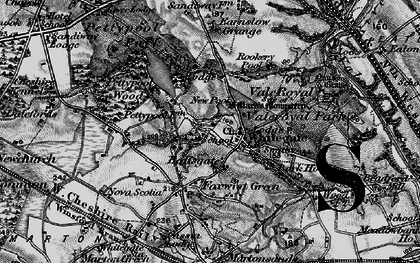 Old map of Whitegate in 1896