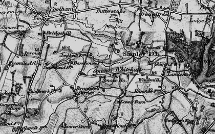 Old map of Whitehall in 1895