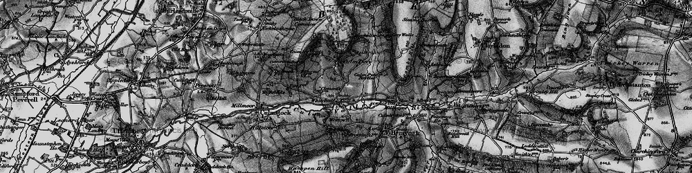 Old map of Whitehall in 1898