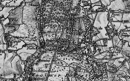 Old map of Whitehill in 1895