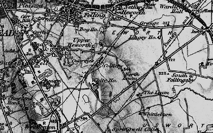 Old map of Whitehills in 1898