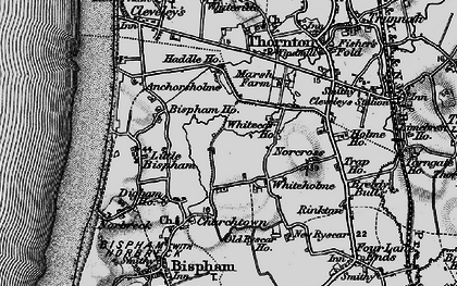 Old map of Whiteholme in 1896
