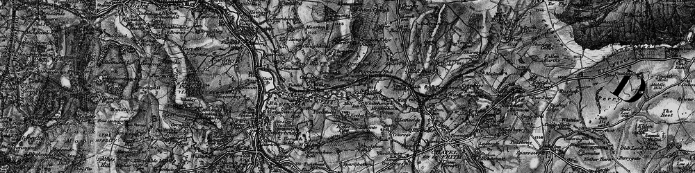 Old map of Whitehough in 1896