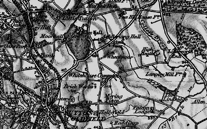 Old map of Ashfurlong Hall in 1899