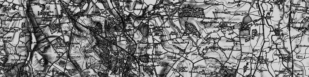 Old map of Whitehouse Common in 1899