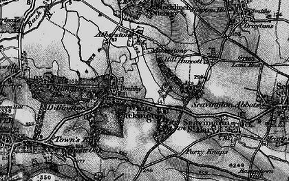 Old map of Whitelackington in 1898