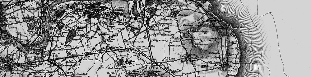 Old map of Whiteleas in 1898