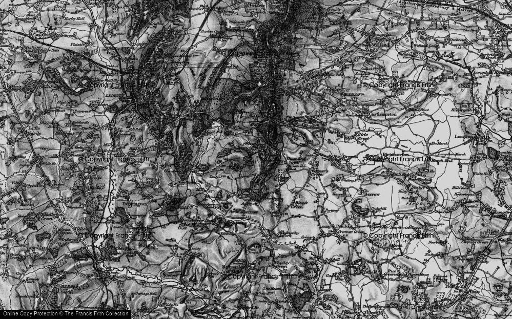 Old Map of Whiteleaved Oak, 1898 in 1898