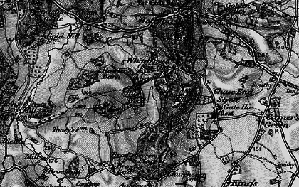 Old map of Whiteleaved Oak in 1898