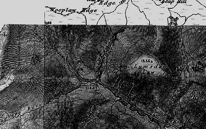 Old map of Carter Bar in 1897