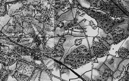 Old map of Whiteley in 1895