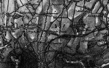 Old map of Whiteley Bank in 1895