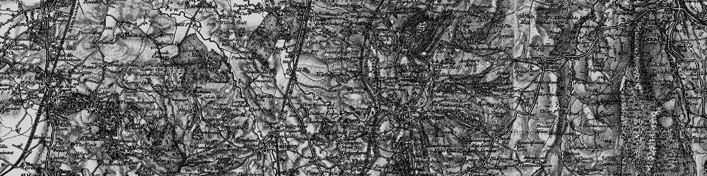 Old map of Whiteley Green in 1896