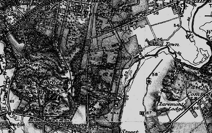 Old map of Whiteley Village in 1896