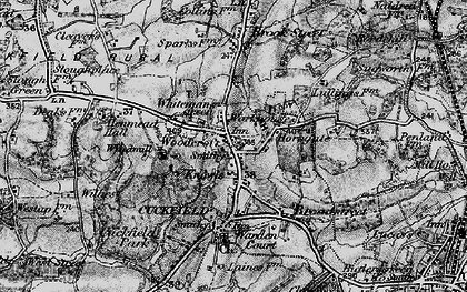 Old map of Whitemans Green in 1895