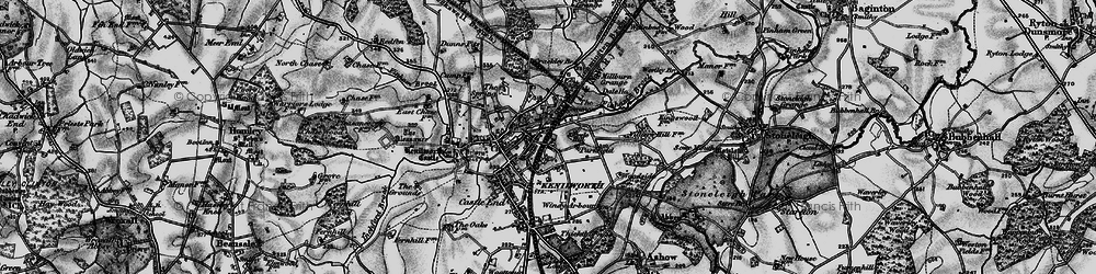 Old map of Whitemoor in 1898