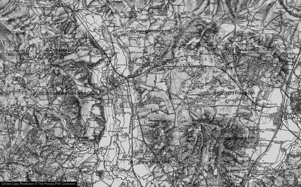 Old Map of Whitenap, 1895 in 1895