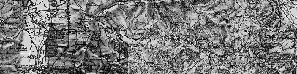Old map of Whiteparish in 1895