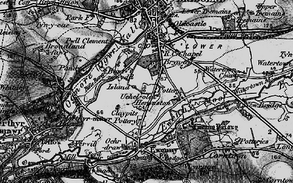 Old map of Whiterock in 1897