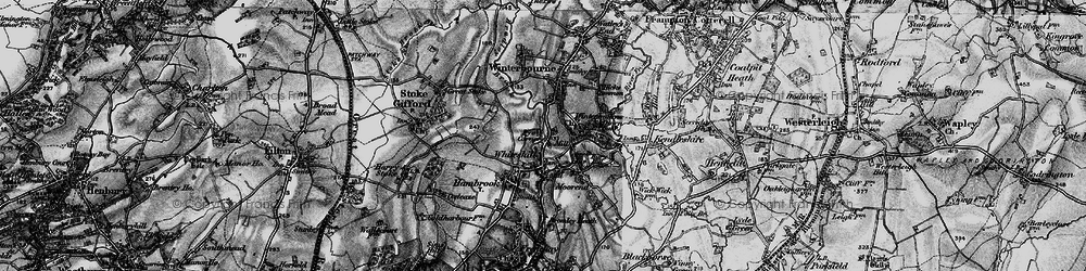 Old map of Whiteshill in 1898