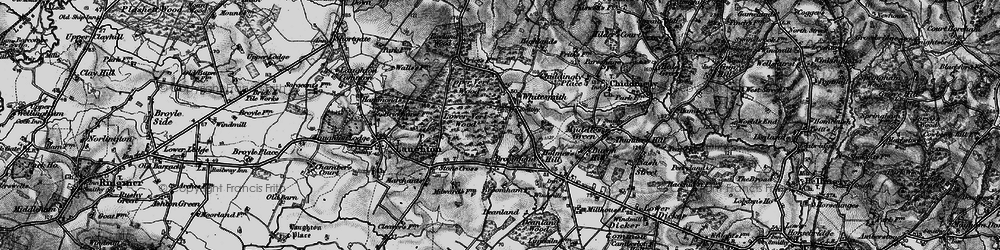 Old map of Whitesmith in 1895