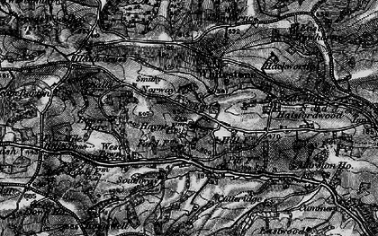 Old map of Whitestone Wood in 1898