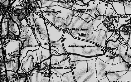 Old map of Whitestone in 1899