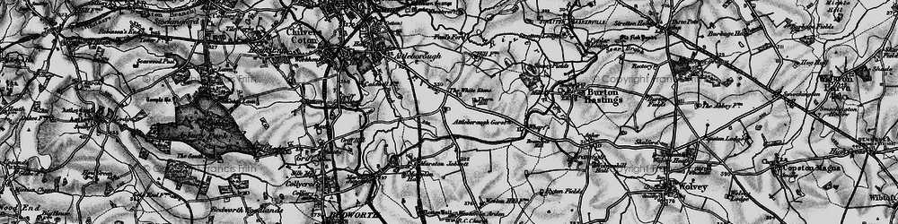 Old map of Whitestone in 1899