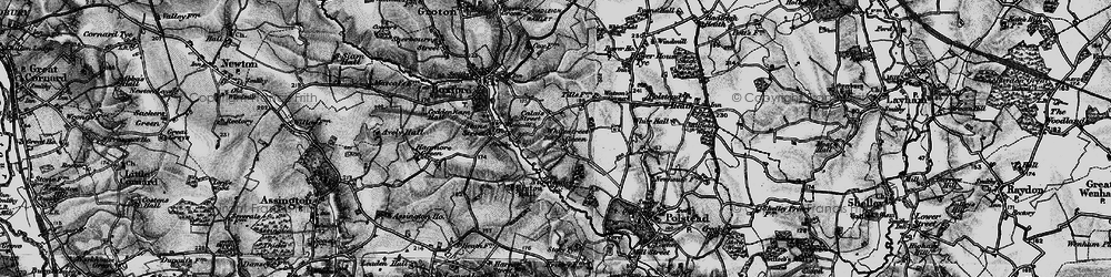 Old map of Whitestreet Green in 1896