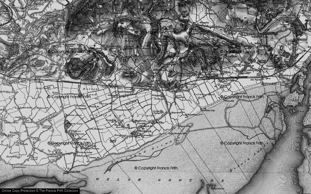 Old Map of Whitewall Common, 1897 in 1897