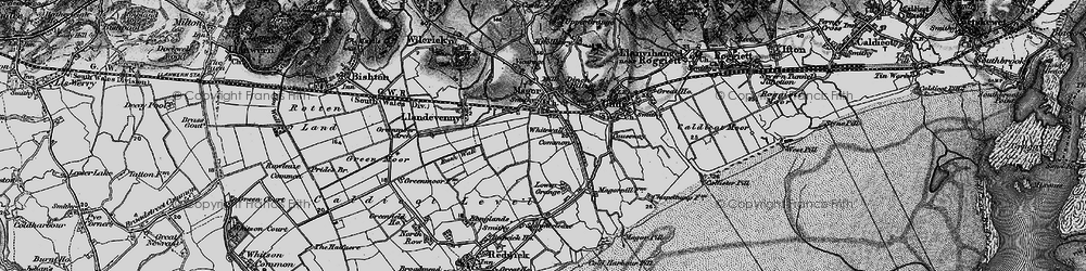 Old map of Whitewall Common in 1897