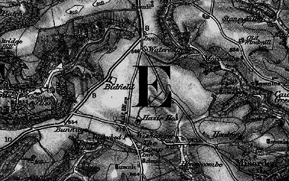 Old map of Whiteway in 1896
