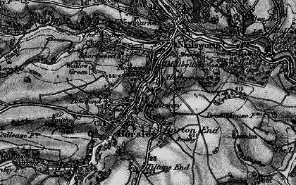 Old map of Whiteway in 1897
