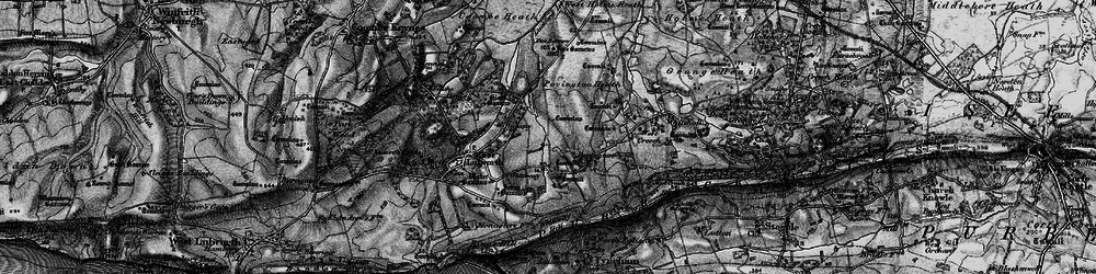 Old map of Whiteway Hill in 1897