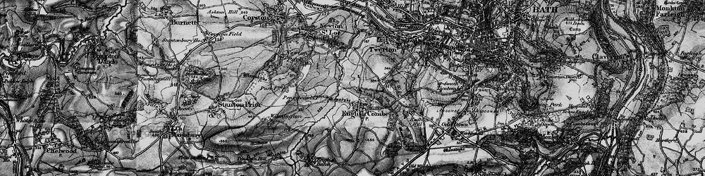 Old map of Whiteway in 1898