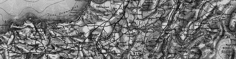 Old map of Whitewell in 1895