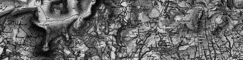 Old map of Whitewell in 1896