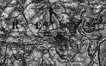 Old map of Whitewell in 1897