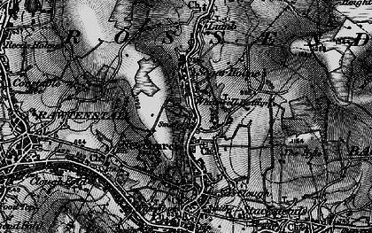 Old map of Whitewell Bottom in 1896