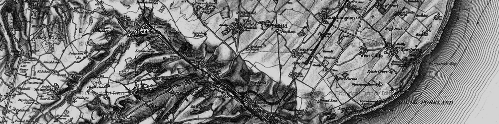 Old map of Whitfield in 1895