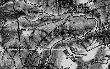 Old map of Whitfield in 1896