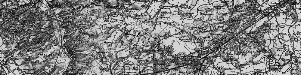 Old map of Whitfield Court in 1896