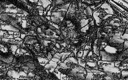 Old map of Whitford in 1896