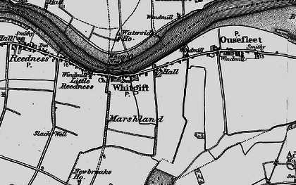 Old map of Adlingfleet Grange in 1895