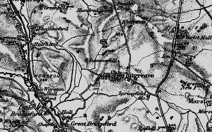 Old map of Whitgreave Manor in 1897